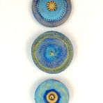 Periwinkle and Mustard Art Set