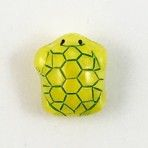 Yellow Uranium Moonglow Glass Turtle
