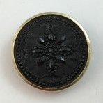 Imitation Thread/Bead work Black Glass in Metal