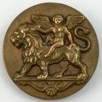 Cupid Riding Lion