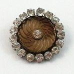 Amber Spiral Glass Jewel