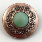 Green Glass Copper Jewel
