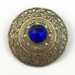 Cobalt and Lacy Brass Jewel