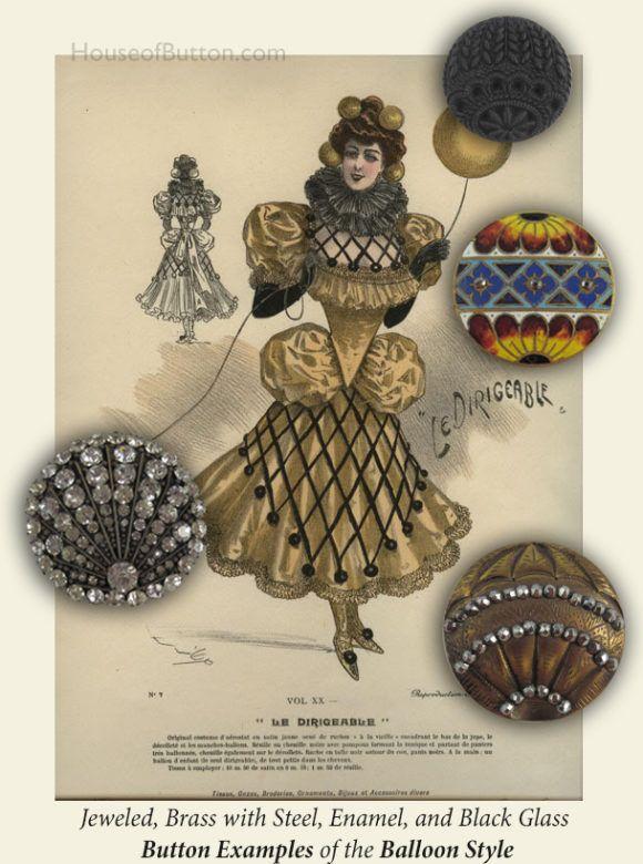 19thC.Balloon Dress