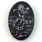 Celluloid Lady Golfer