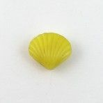 Yellow Glass Seashell Realistic
