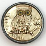 Brass Owl with Google Eyes