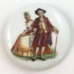 Colonial Couple on Porcelain