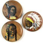 Painted Indian Wood Trio