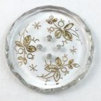 Crystal with Gold Floral Design