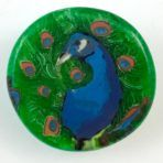 Proud Peacock Glass